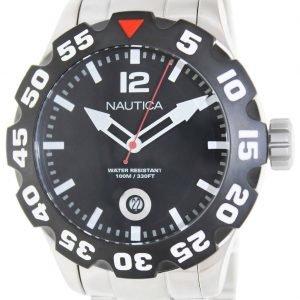 Nautica Bfd 100 N18622g Kello Musta / Teräs