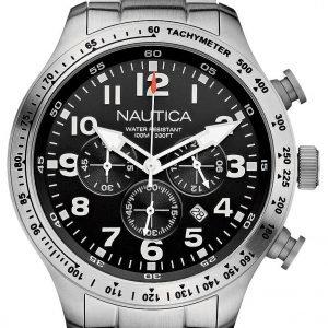 Nautica Bfd 101 A18592g Kello Musta / Teräs