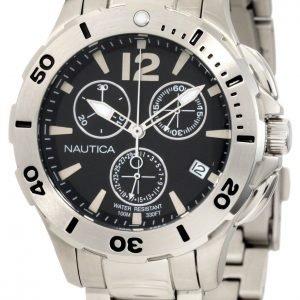 Nautica Bfd 101 N19584m Kello Musta / Teräs