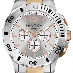 Nautica Bfd 101 N27525g Kello Hopea / Punakultasävyinen