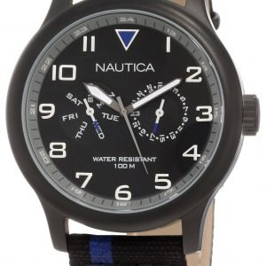 Nautica Bfd 103 N15619g Kello Musta / Nahka
