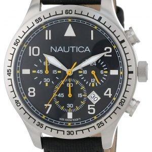 Nautica Bfd 105 N16577g Kello Musta / Nahka