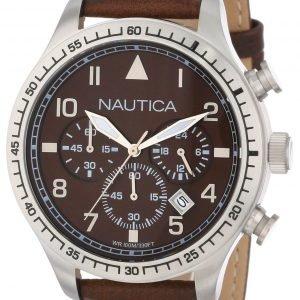Nautica Bfd 105 N16582g Kello Ruskea / Nahka