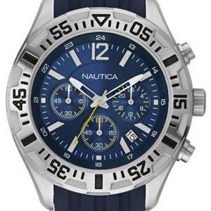 Nautica Chronograph A17667g Kello Sininen / Kumi