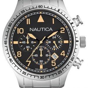 Nautica Chronograph A18712g Kello Musta / Teräs