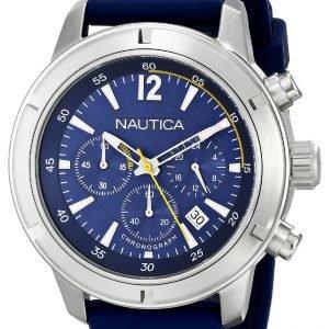 Nautica Chronograph N17652g Kello Sininen / Muovi