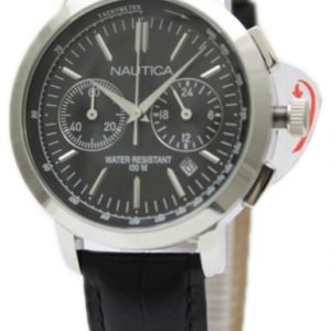 Nautica Chronograph N18617m Kello Musta / Nahka