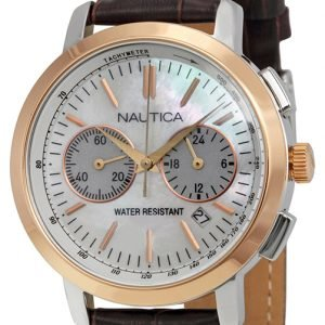 Nautica Chronograph N19580m Kello Valkoinen / Nahka