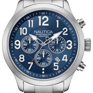Nautica Chronograph Nai16516g Kello Sininen / Teräs