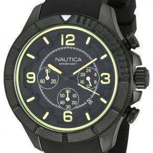 Nautica Chronograph Nai19526g Kello Musta / Kumi