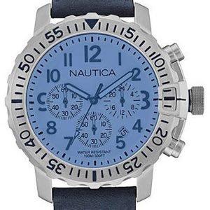 Nautica Chronograph Nai19534g Kello Sininen / Nahka