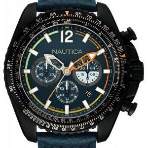 Nautica Chronograph Nai22507g Kello Sininen / Nahka