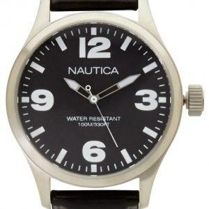 Nautica Dress A12622g Kello Musta / Nahka