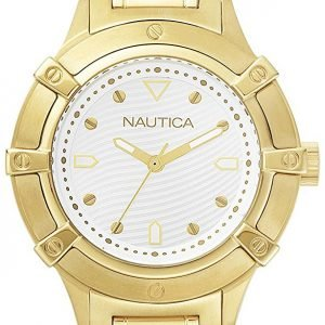 Nautica Dress Napcpr004 Kello Valkoinen / Kullansävytetty