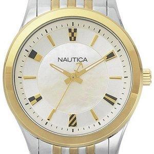 Nautica Dress Napvnc004 Kello Valkoinen / Kullansävytetty