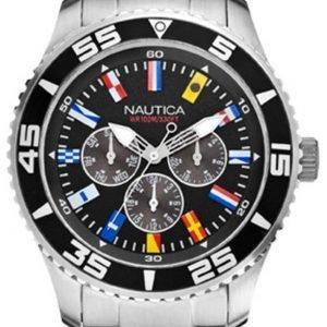 Nautica Multifunction A14631g Kello Musta / Teräs