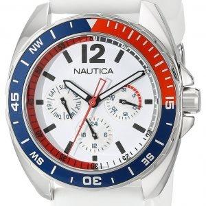 Nautica Multifunction N09907g Kello Valkoinen / Muovi