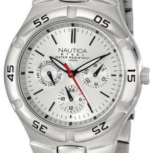Nautica Multifunction N10074 Kello Hopea / Teräs