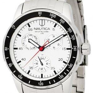 Nautica Multifunction N13556g Kello Hopea / Teräs