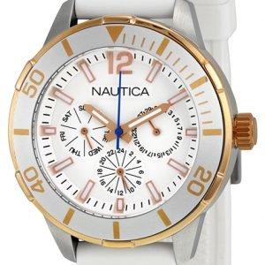 Nautica N15631m Kello Valkoinen / Muovi