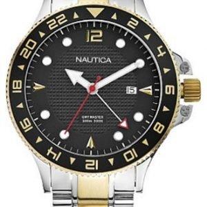 Nautica N24520g Kello Musta / Kullansävytetty Teräs