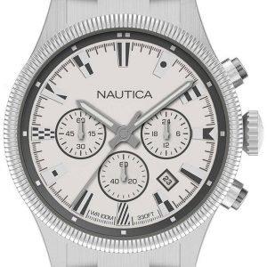 Nautica Napstb010 Kello Valkoinen / Teräs