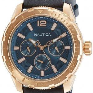 Nautica Napstl003 Kello Harmaa / Nahka
