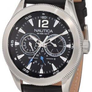 Nautica Ncs N14621g Kello Musta / Nahka
