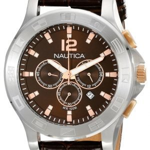 Nautica Ncs N22620g Kello Ruskea / Nahka