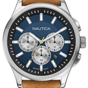 Nautica Nct A16695g Kello Sininen / Nahka