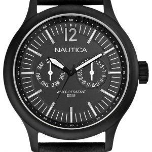 Nautica Nct N13603g Kello Musta / Nahka