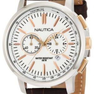 Nautica Nct N19574g Kello Valkoinen / Nahka