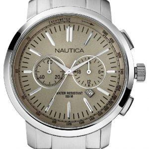Nautica Nct N22602g Kello Beige / Teräs