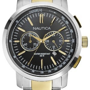 Nautica Nct N23601g Kello Harmaa / Kullansävytetty Teräs