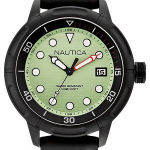 Nautica Nmx A17618g Kello Vihreä / Muovi