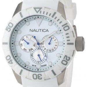 Nautica Nsr N13639g Kello Valkoinen / Muovi