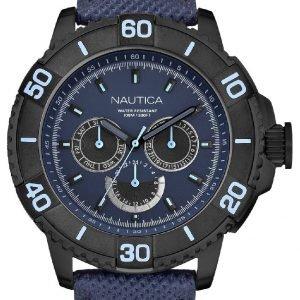 Nautica Nst N18644g Kello Sininen / Nahka
