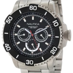 Nautica Nst N19587g Kello Musta / Teräs