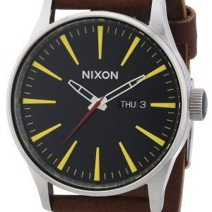 Nixon A105019-00 Kello Musta / Nahka
