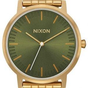 Nixon A10572596-00 Kello Vihreä / Kullansävytetty