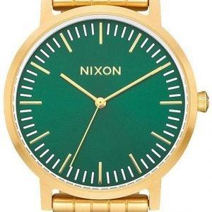 Nixon A10572691-00 Kello Vihreä / Kullansävytetty