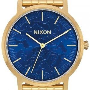Nixon A10572732-00 Kello Sininen / Kullansävytetty