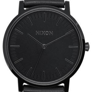 Nixon A1058001-00 Kello Musta / Nahka