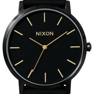 Nixon A10581031-00 Kello Musta / Nahka