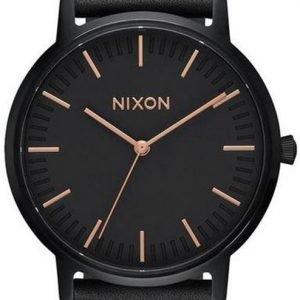 Nixon A1058957-00 Kello Musta / Nahka