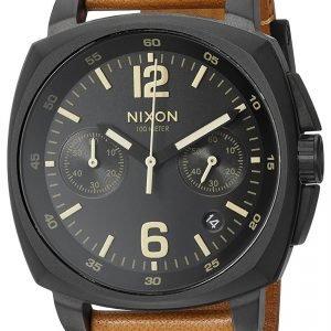 Nixon A10732447-00 Kello Musta / Nahka