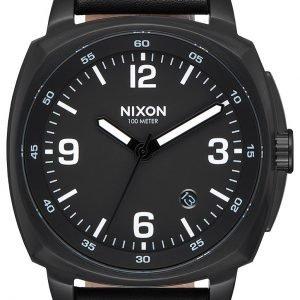 Nixon A1077001-00 Kello Musta / Nahka