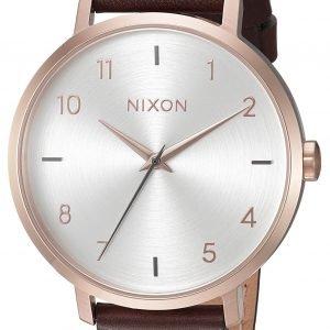 Nixon A10912369-00 Kello Valkoinen / Nahka