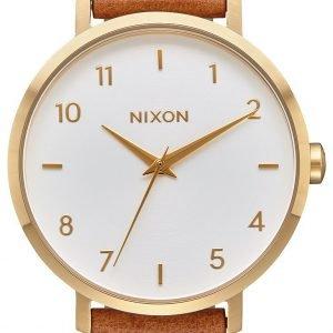 Nixon A10912621-00 Kello Valkoinen / Nahka