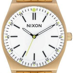 Nixon A1186504-00 Kello Valkoinen / Kullansävytetty
